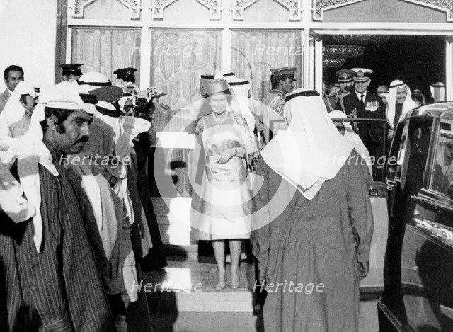 The Queen's state visit to Kuwait, 1979. Artist: Unknown