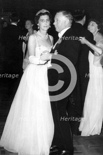 The Duchess of Kent dances with the Duke of Norfolk, Coronation Ball, Albert Hall, London, 1953. Creator: Unknown.