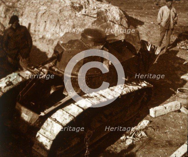 French tank, c1914-c1918. Artist: Unknown.
