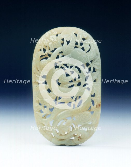 Reticulated jade panel, late Ming dynasty, China, 1550-1644. Artist: Unknown