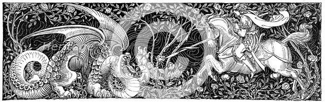St George killing the dragon, 1884. Artist: George Heywood Maunoir Sumner
