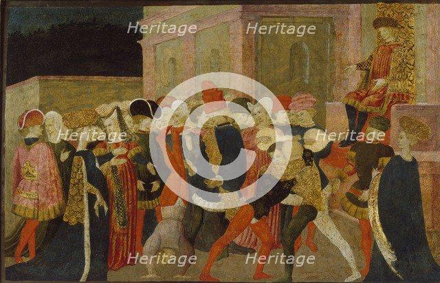 The Rape of the Sabine Women, 15th century. Artist: Apollonio di Giovanni di Tommaso.