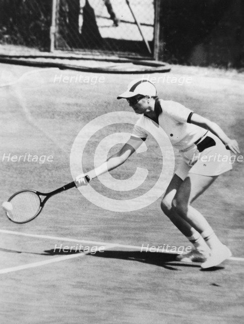 Princess Grace of Monaco partnering her husband in the doubles tournament, Monte Carlo, 1976. Artist: Unknown