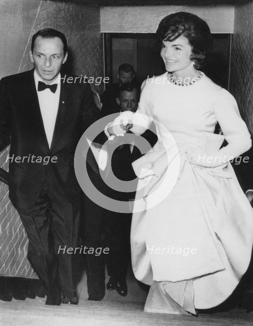 Jacqueline Kennedy with Frank Sinatra at President Kennedy's pre-inauguration gala, 1961. Artist: Unknown
