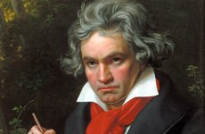Thumbnail image of Portrait Ludwig van Beethoven when composing the Missa Solemnis', 1820.