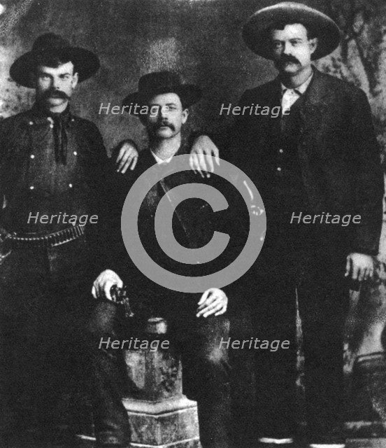A disputed photograph of the train robber and outlaw Sam Bass, c1877-1878 (1954). Artist: Unknown