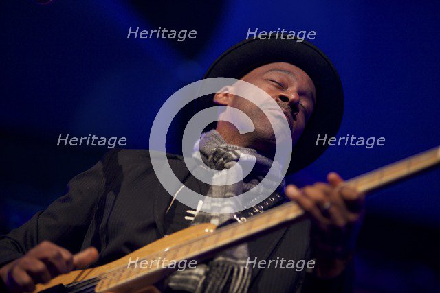 Marcus Miller, 2012. Artist: Alan John Ainsworth.