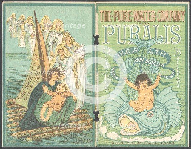 Puralis Mineral water, 1890s. Artist: Unknown