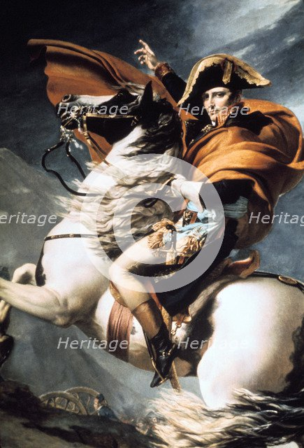 'Napoleon Crossing the Alps', detail, c1800. Creator: Jacques-Louis David.