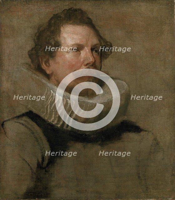 Head of a bearded Man wearing a Wheel Ruff, 17th century. Artist: Anthony van Dyck.