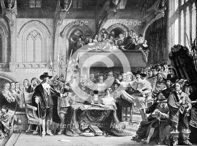 The famous trial of Charles I in Westminster Hall in January, 1649 (c1905). Artist: Unknown