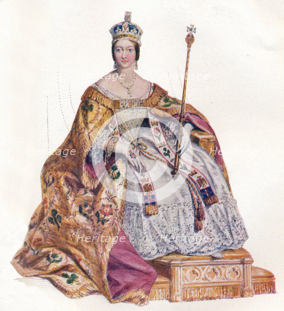Alexandrina Victoria Queen of England, 1838, (1902). Artist: Edmund Thomas Parris