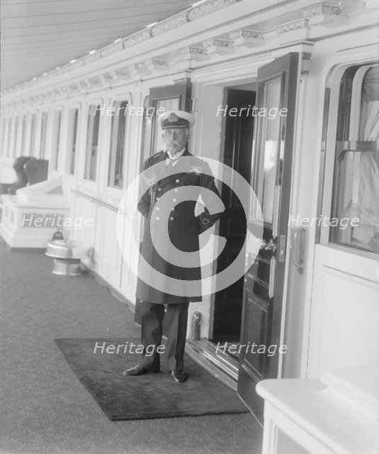 Prince Arthur on board 'HMY Victoria and Albert', c1925. Creator: Kirk & Sons of Cowes.