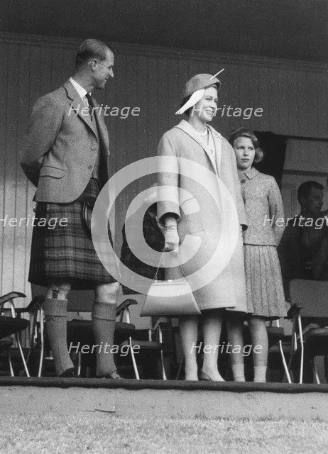 Queen Elizabeth attendeds the Braemar Games, Scotland, September 1961. Artist: Unknown