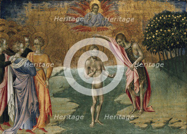 The Baptism of Christ, c1460. Artist: Giovanni di Paolo.