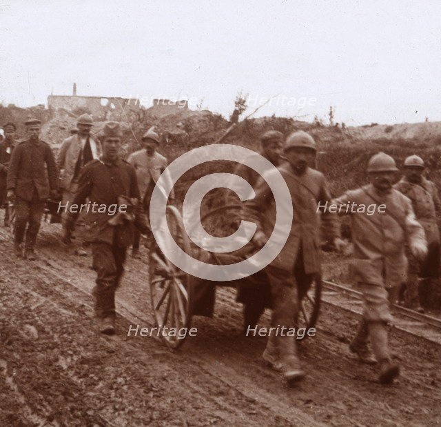 Wounded, Neuville, northern France, c1914-c1918. Artist: Unknown.