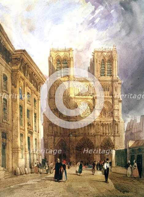 'The Cathedral of Notre Dame', 1836. Artist: Thomas Shotter Boys