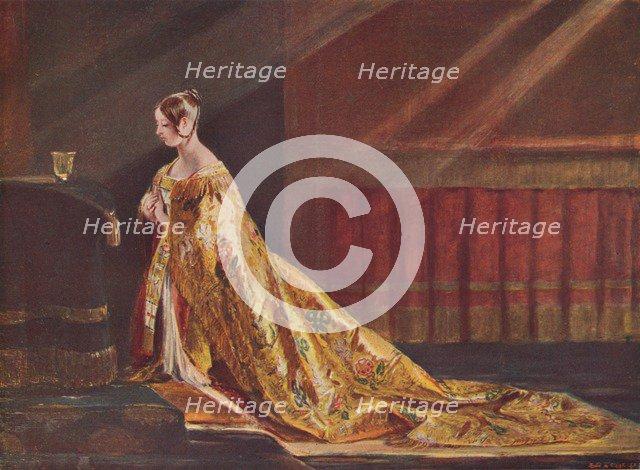 Queen Victoria in the Coronation robes, 1838 (1906). Artist: Charles Robert Leslie.