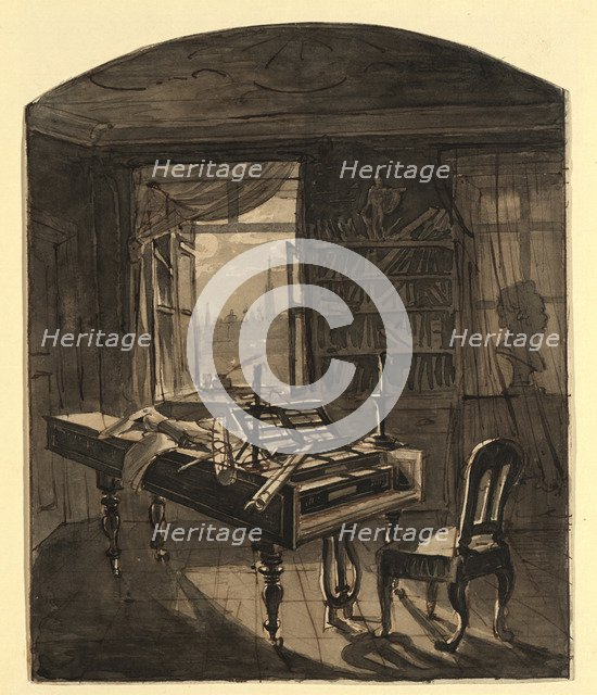 Beethoven's Room, March 30, 1827 , 1827.