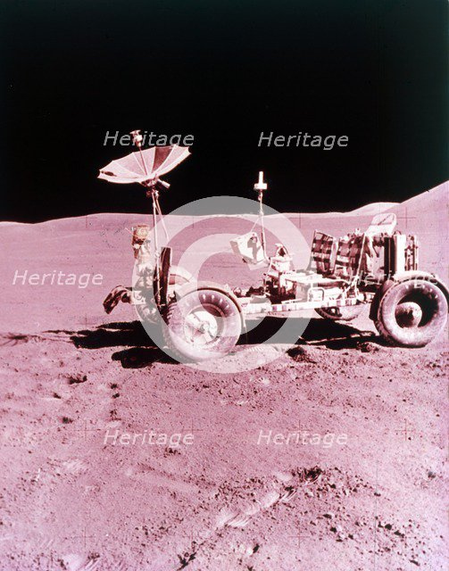 The first Lunar Roving Vehicle, Apollo 15, July 1971. Creator: NASA.