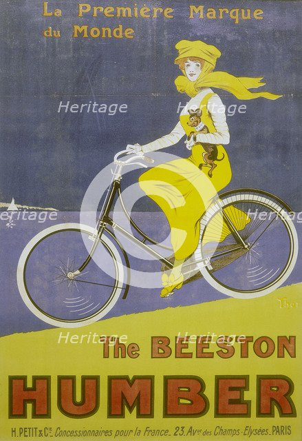 Poster advertising Humber bicycles, late 19th-early 20th century. Artist: Unknown
