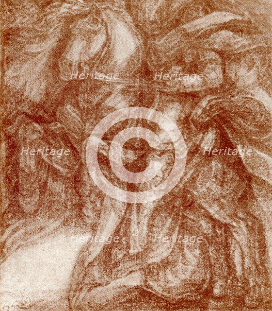 'Study of a Knight, by Leonardo De Vinci, 1913. Artist: Leonardo da Vinci