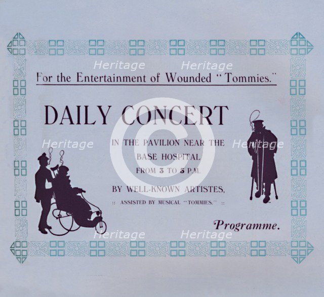 'Advert For A Concert', 1917. Artist: Garratt & Atkinson.