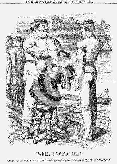 'Well Rowed All!', 1869. Artist: Joseph Swain