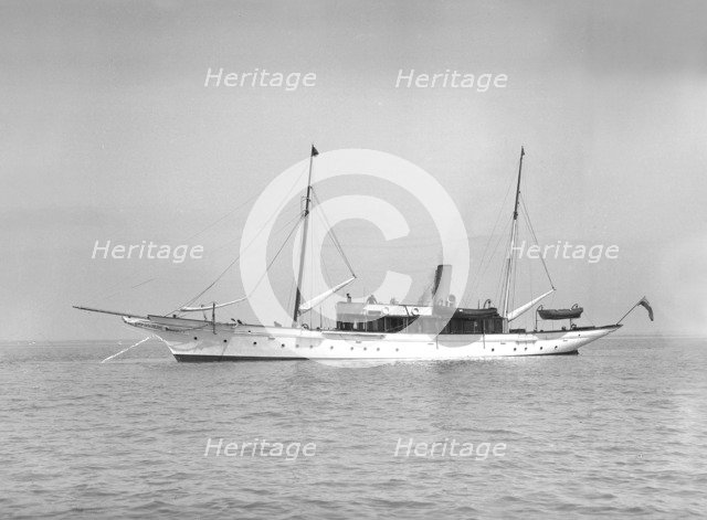The steam yacht 'Westoe', 1911. Creator: Kirk & Sons of Cowes.