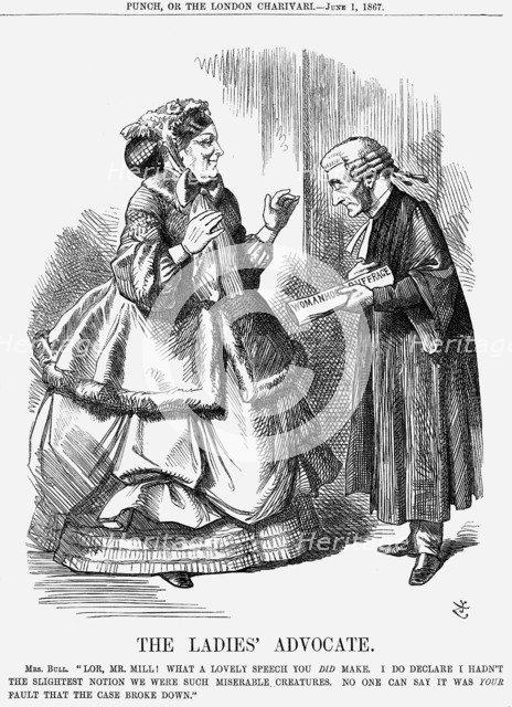'The Ladies' Advocate', 1867. Artist: John Tenniel