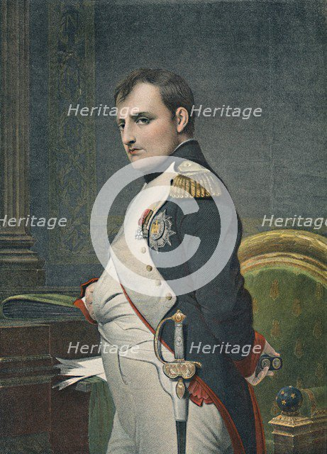 'Napoleon in His Study', c1800, (1896). Artist: Unknown.