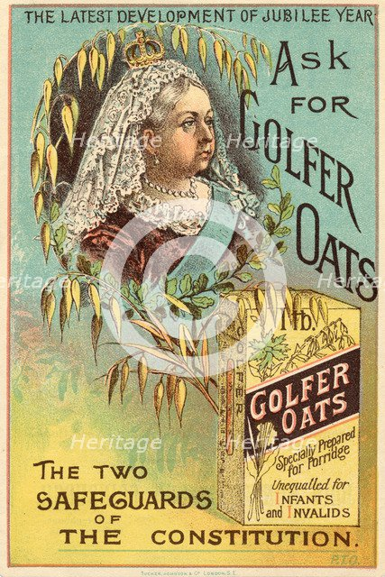 Golfer Oats, 19th century. Artist: Unknown