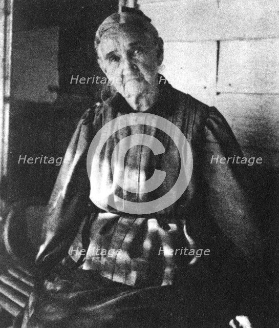 Zerelda Samuel, mother of American outlaws Jesse and Frank James, c1885-1915 (1954). Artist: Unknown
