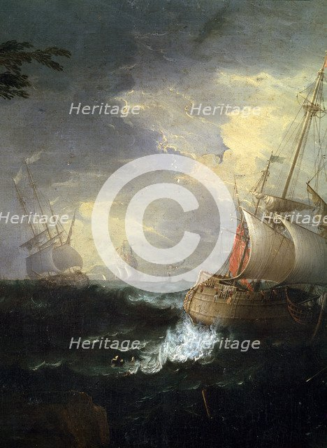 'Stormy sea', c1700-1750. (Detail).   Artist: Leonardo Coccorante
