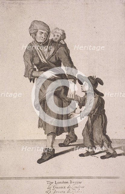 'The London Beggar', Cries of London, (c1688?). Artist: Anon
