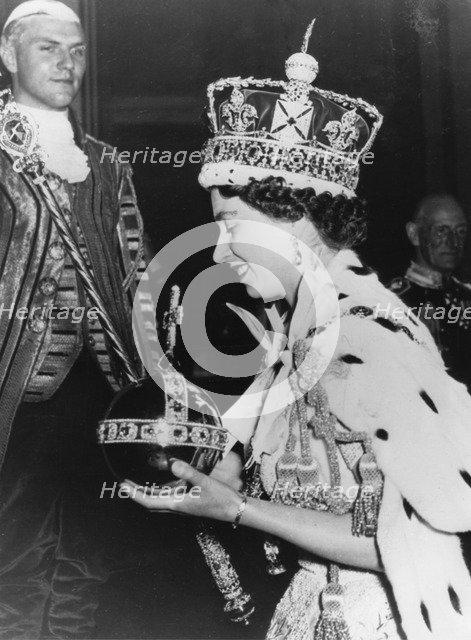 Coronation of Elizabeth II, Westminster Abbey, London, June 1953. Artist: Unknown