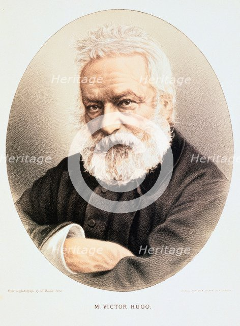 Victor Hugo, French poet, dramatist and novelist,c1880. Artist: Anon