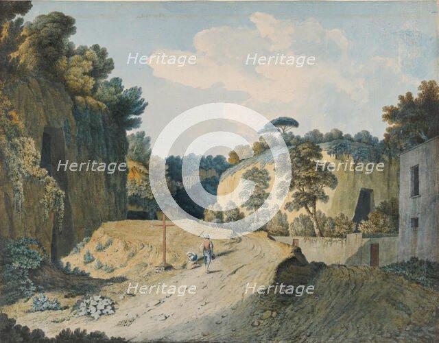 A Road in a Gorge near Naples, 1782. Creator: Thomas Jones.