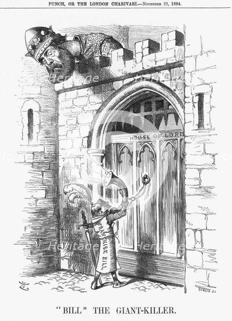 'Bill The Giant-killer', 1884. Artist: Joseph Swain