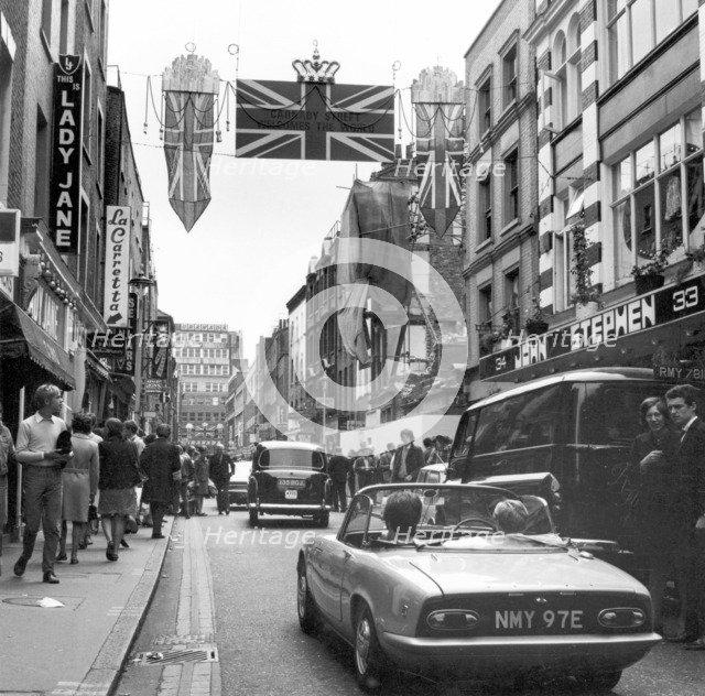 Shoppers on Carnaby Street, London, 1968. Artist: Henry Grant