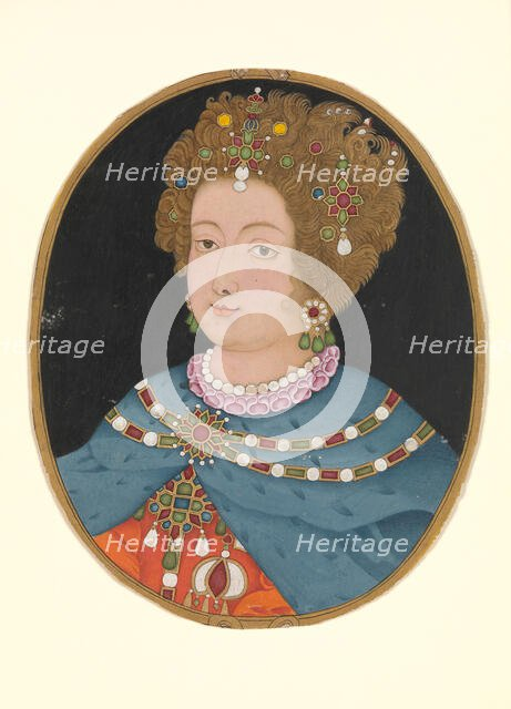 Lady in Elizabethan Costume, late 17th century. Creator: Unknown.