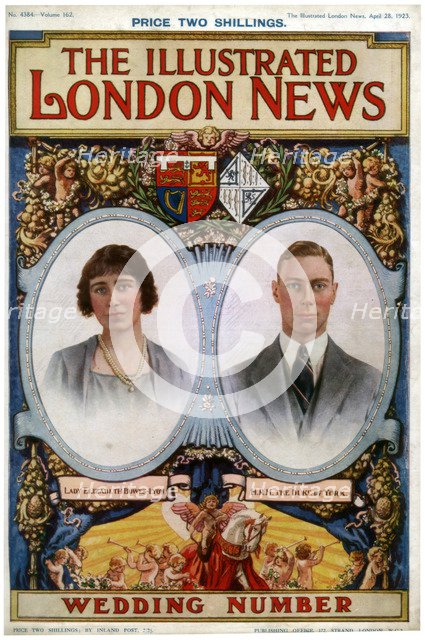 Front cover of The Illustrated London News Wedding Number, 28th April 1923. Artist: Unknown
