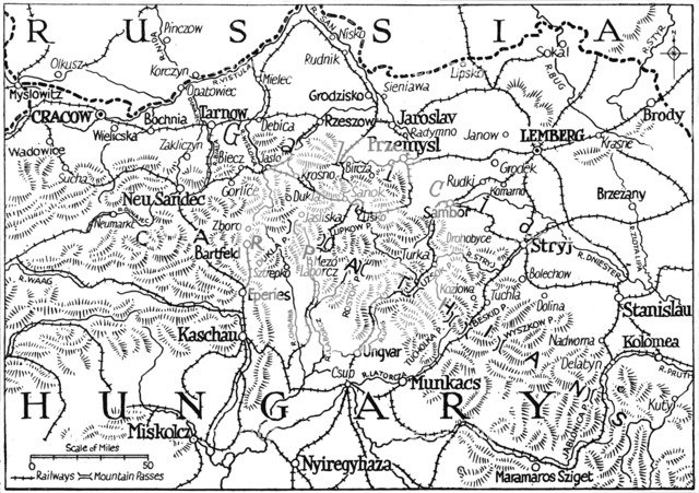 'Galicia and the Carpathian Passes', 1915. Artist: Unknown.