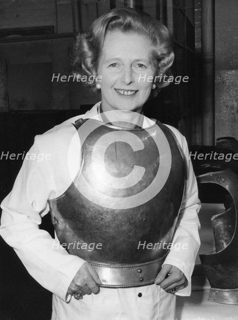 The 'Iron Lady' puts on her armour, Coventry, 9th September 1978. Artist: Unknown