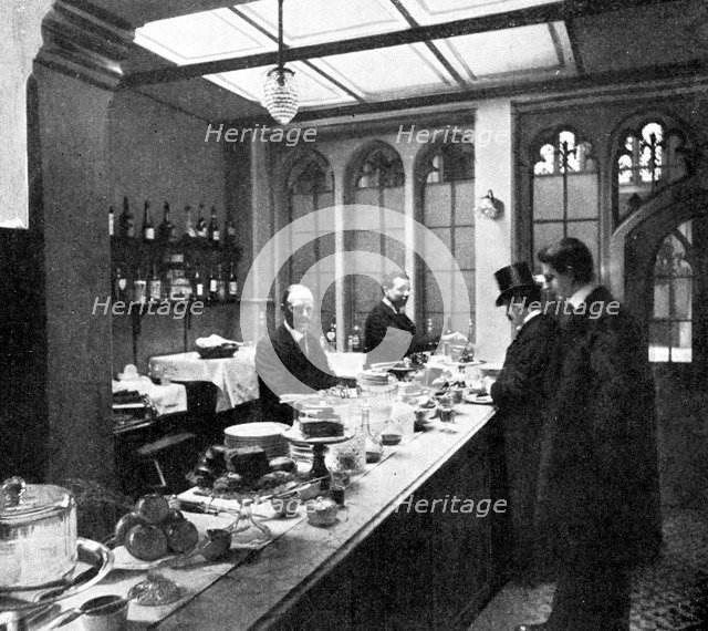 The Lobby Bar, House of Commons, Westminster, London, c1905. Artist: Unknown