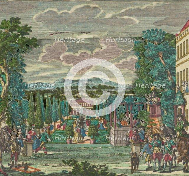 Paper Theater or Diorama of an Italianate Villa and Garden, ca. 1730-56. Creator: Martin Engelbrecht.