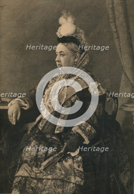 'Her Majesty the Queen in the dress worn at the Jubilee Commemoration in Westminster Abbey, 1887. Artist: Unknown