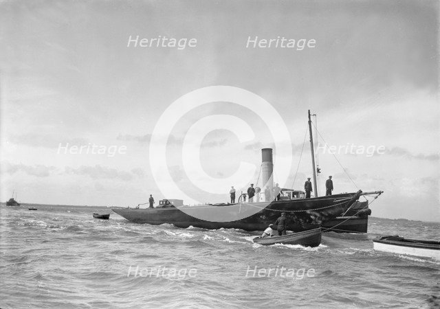 'HMY Britannia' before being sunk, July 1936. Creator: Kirk & Sons of Cowes.