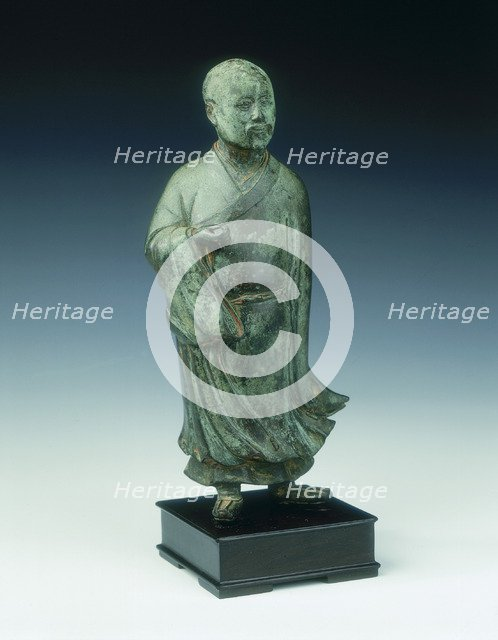 Bronze statue of a standing official, Ming dynasty, China, 2nd half of 16th century. Artist: Unknown