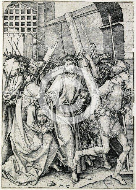 Christ carrying the cross, late 15th century. Artist: Martin Schongauer.